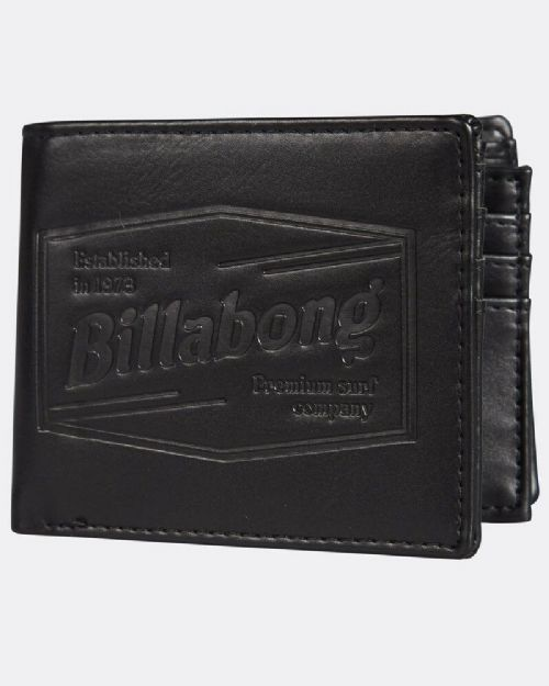 REDUCED.BILLABONG MENS WALLET.JUNCTION FAUX LEATHER BLACK CARD NOTE PURSE S20F